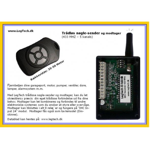 Trådløs Key Transmitter & Receiver