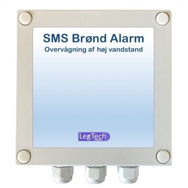 SMS Brønd Alarm (Direkte 230VAC tilslutning)