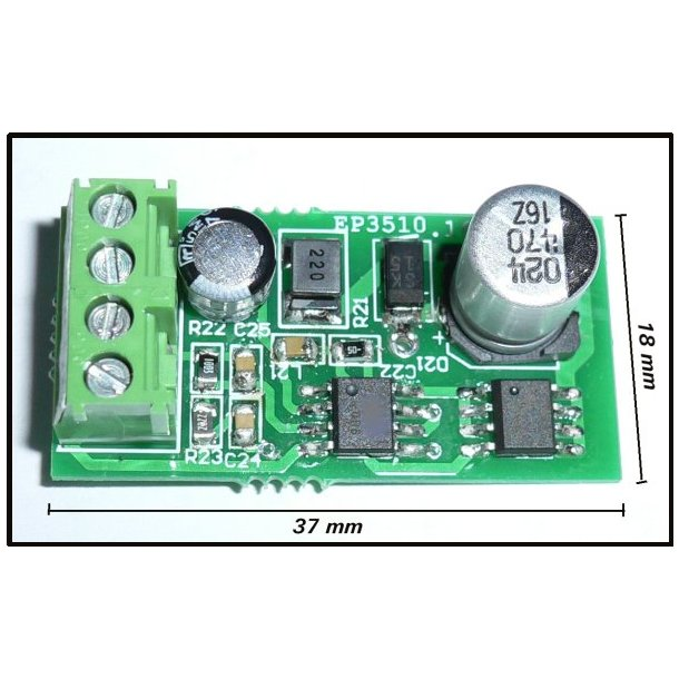 DC/DC Converter +3V til 12V / 0,5A