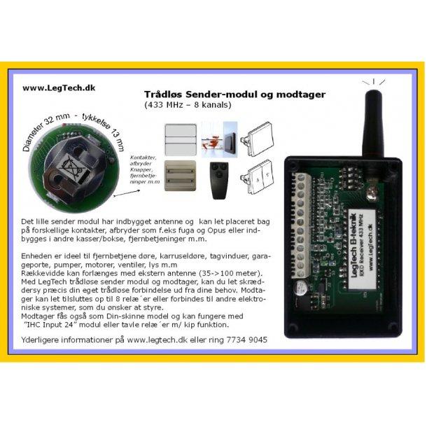 Trådløs Sender-modul og modtager
