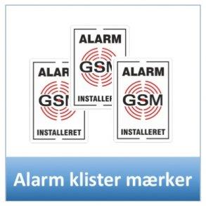 Alarm klister mærker